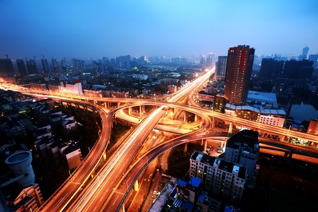 junction: A road junction at Hangzhou Stock Photo