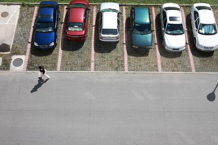 car parking: parking of small model cars