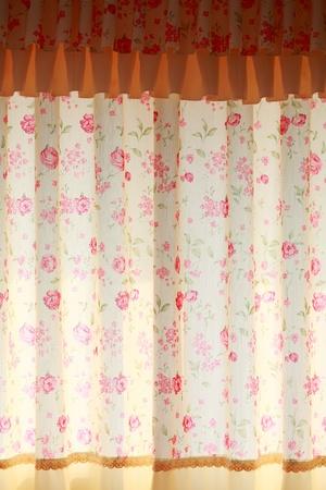 beautiful  curtain  with  fringe photo