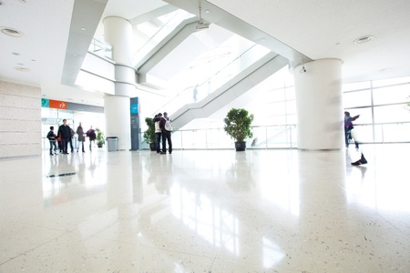 motion people in modern building Editorial
