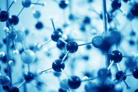 quimica organica: close up de modelo de estructura molecular