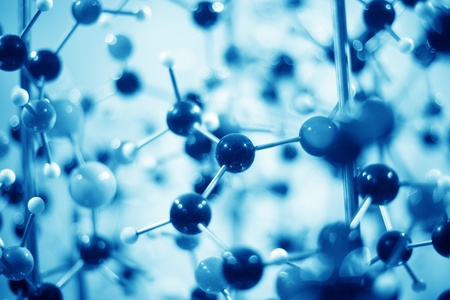 molecule structure: close up of molecular structure model