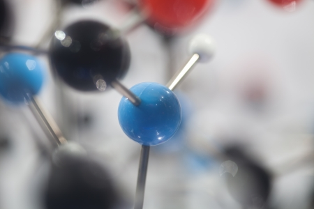 close up of Molecular structure  model photo