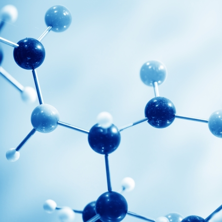 close up of Molecular structure  model Stock Photo