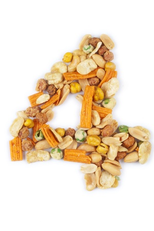 number made from nuts photo