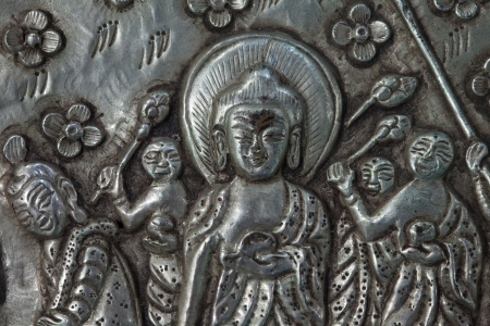close up of buddha statue photo