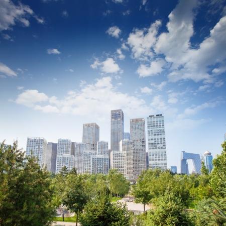 landscape of modern city ,China photo