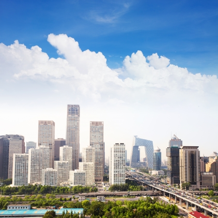 beijing: landscape of modern city ,China