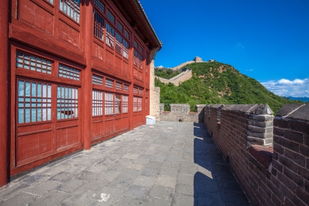 The Great Wall of China  with blue sky at Sunny Day