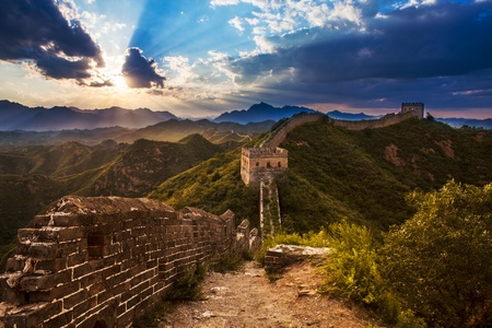 greatwall: greatwall, the landmark of Beijing, China Stock Photo
