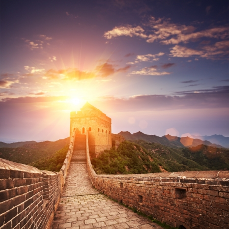 ancient great wall: greatwall the landmark of china and  beijing