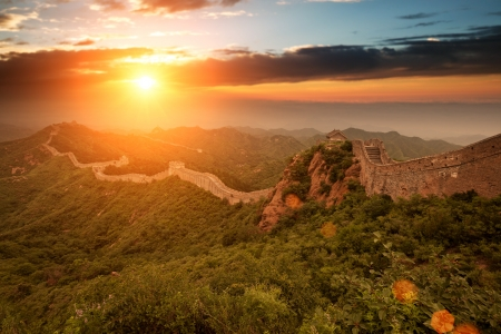 greatwall the landmark of china and  beijing Stock Photo - 15495190