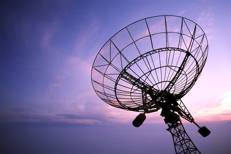 satellite tv: satellite dish antenna Stock Photo