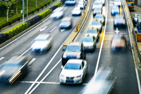business life line: cars in highway with blur motion
