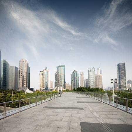 Way to modern city in Shanghai