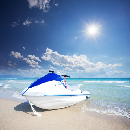 yacht on beach photo