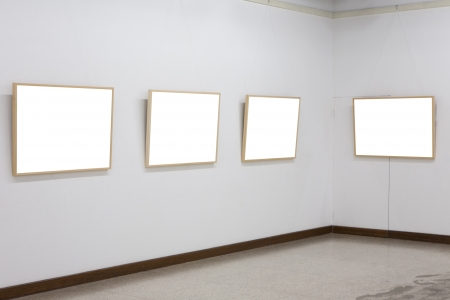 empty frames in museum photo