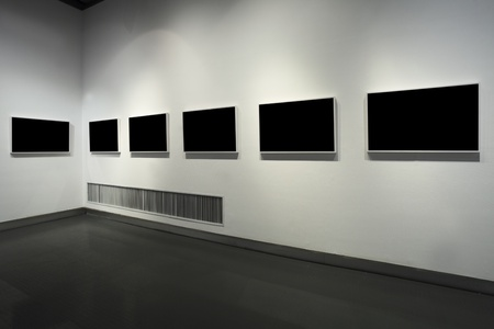 adverts: empty frame in art museum