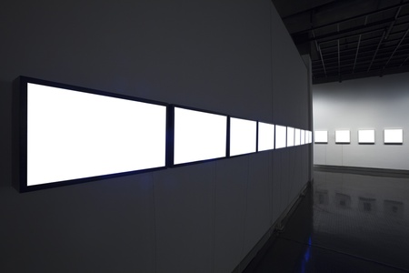 commercial painting: empty frame in art museum