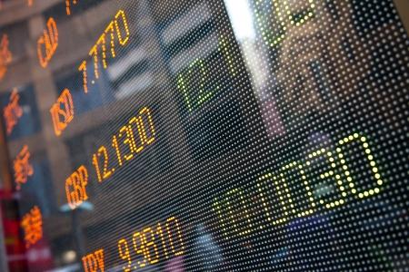 stock  exchange: Visualizaci?n de las cotizaciones del mercado de valores Foto de archivo