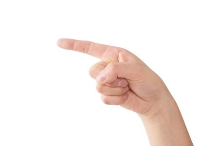 left handed: Human hand