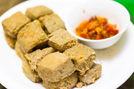 bean curd: chinese food,fried strong-smelling fermented bean curd
