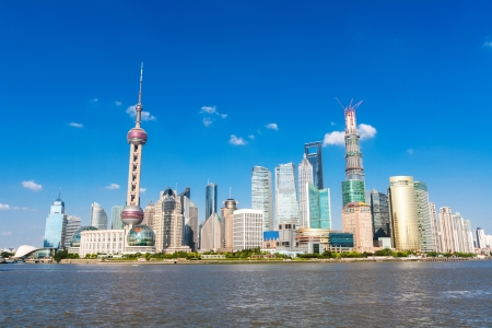 The view of modern city,shanghai photo