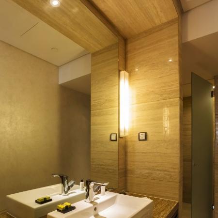 wash basin in bathroom of the grand hotel