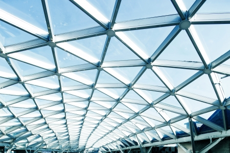 glass ceiling: roof of moden buildings