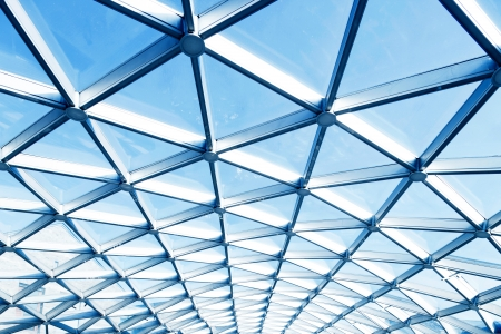 futuristic interior: roof of moden buildings
