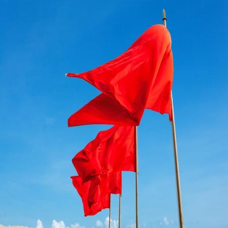 flutter: red flag flutter in the sky