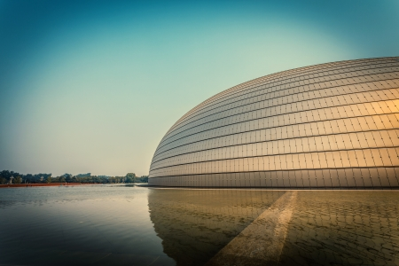 rounded roof of  Theatre in Beijing
