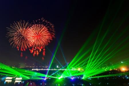 abstract laser licht 's nachts