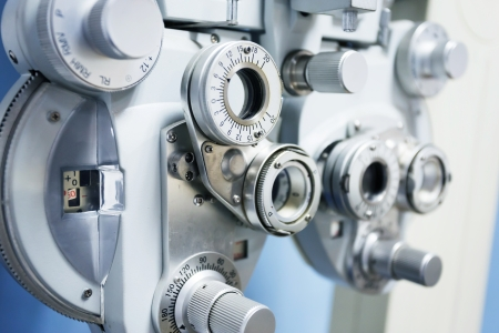 diopter: Medical attendance at the eye measuring  Stock Photo