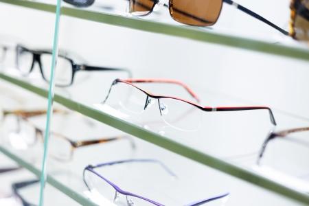glasses displayed photo