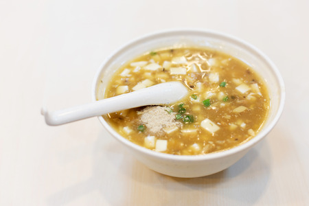 doufu: tofu soup, chinese food