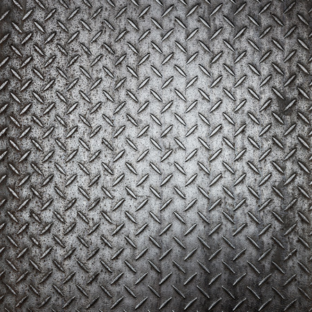 steel floor: Aluminium dark list with rhombus shapes