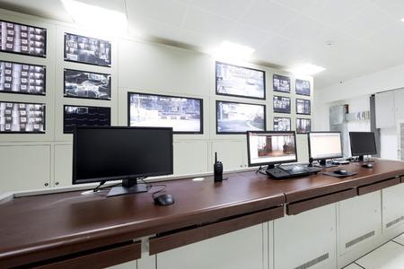 Salle de contrôle d'un bureau moderne