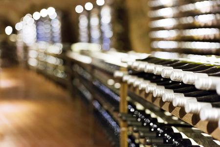 Wine cellar full of wine bottles  photo