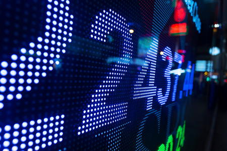 stock quotes: Display of Stock market quotes  Stock Photo