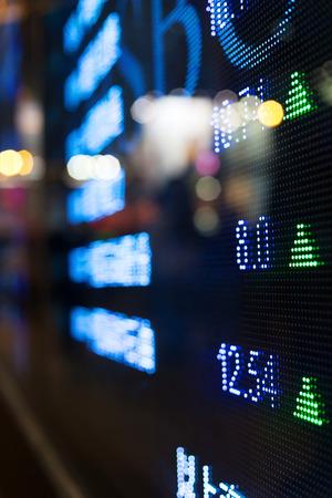 exchange rate: Display of Stock market quotes  Stock Photo