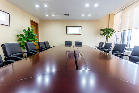 meeting table: Business meeting room in office