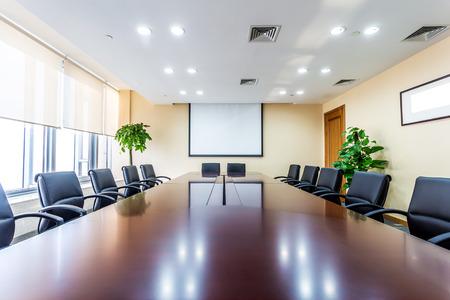 board room: Business meeting room in office
