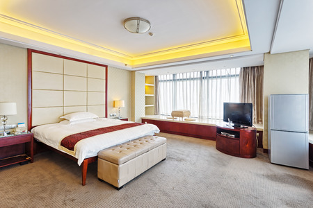luxury bedroom: luxury bedroom in hotel  Editorial