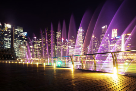 prosperous: prosperous urban cityscape at night Stock Photo