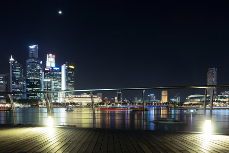 prosperous: prosperous urban cityscape at night Editorial