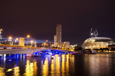 prosperous: prosperous modern city at night
