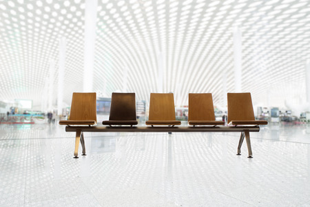 chairs with airport silhouette