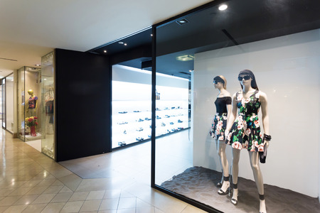 clothes display in the fashion store
