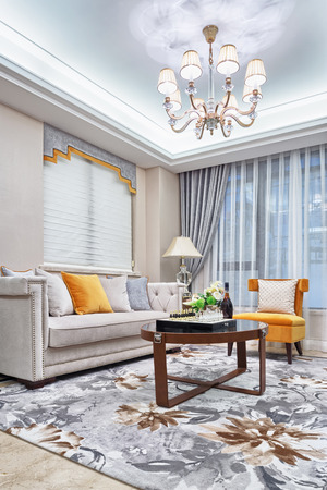 luxury interior: modern living room luxury decoration interior